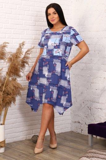 Платье 4861 (N) (Синий) - Злата