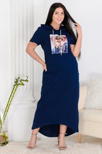 Платье 13461 (N) (Синий) - Злата