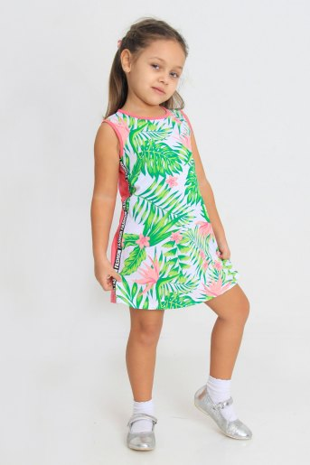 Платье Лиана детское (N) (Кораллово-розовый) - Злата