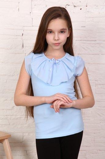 Джемпер Миленушка кор. рукав детский (N) (Светло-голубой) - Злата