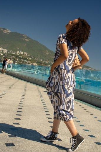 Платье 4417 (N) (Синий) (Фото 2)