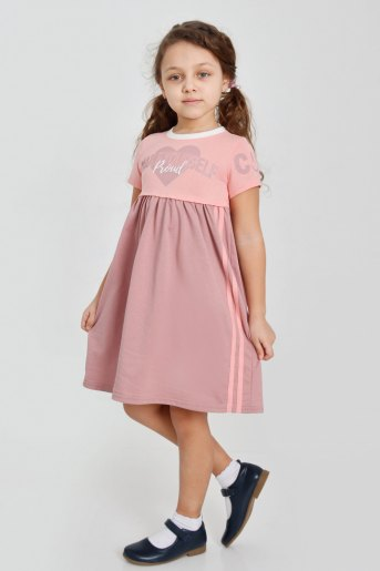 Платье Муза детское (N) (Пудра) - Злата