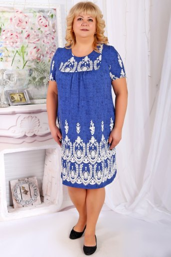 Платье Ирма голубое - Злата