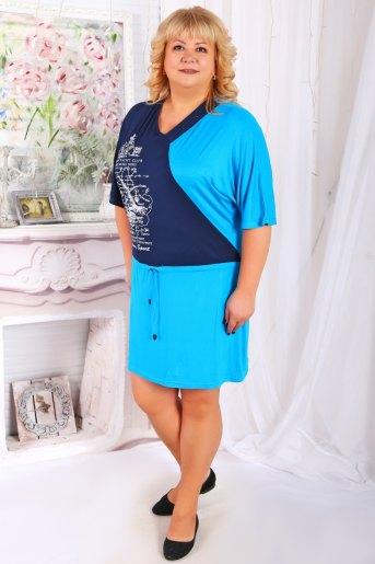 Платье Полина бирюза (Фото 2)