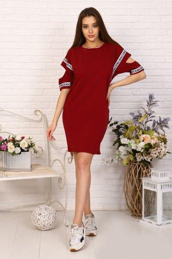 Платье 10393 (N) (Бордовый) - Злата