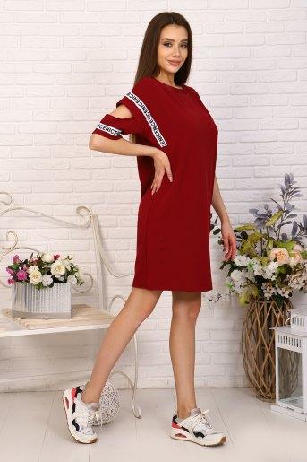 Платье 10393 (N) (Бордовый) (Фото 2)