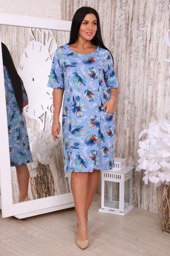 Платье 35505 (N) (Голубой) - Злата