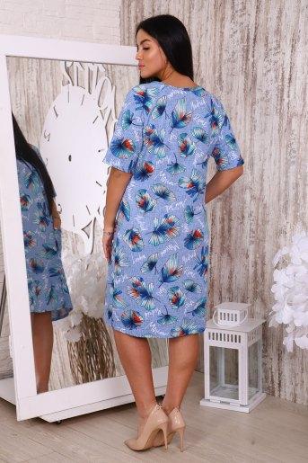 Платье 35505 (N) (Голубой) (Фото 2)