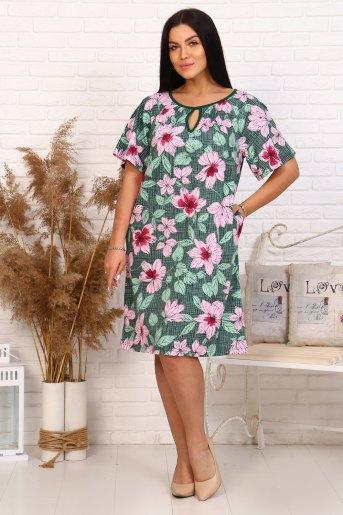 Платье 35011 (N) (Цветы) - Злата