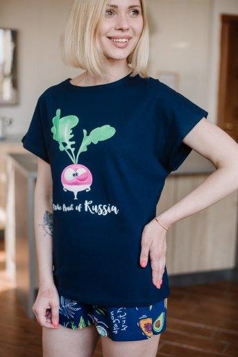 Женская пижама ЖП 022 (T) (Т.-с_тропические фрукты) - Злата