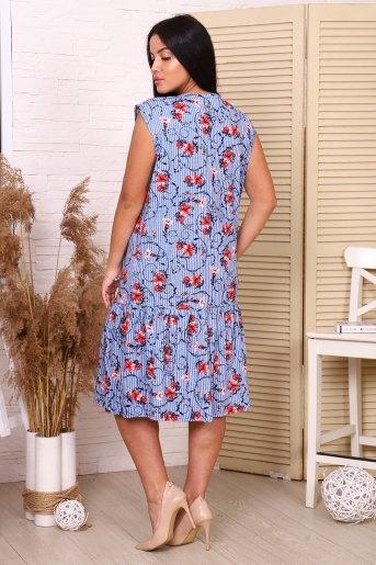 Платье 35036 (N) (Синий) (Фото 2)