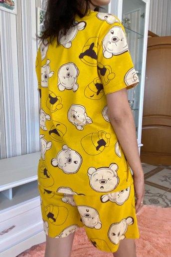 Женская пижама ЖП 069 (T) (Мишки на горчичном) (Фото 2)
