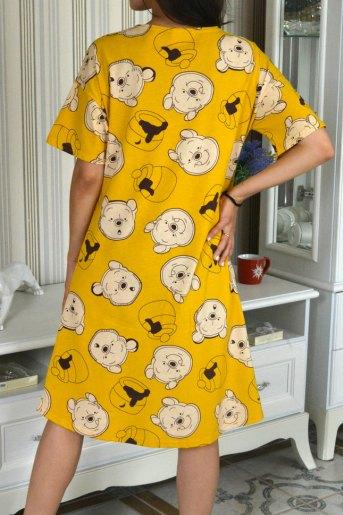 Женская сорочка ЖС 017/1 (T) (Мишка на горчичном) (Фото 2)