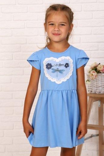 Платье Мгновения детское (N) (Голубой) - Злата