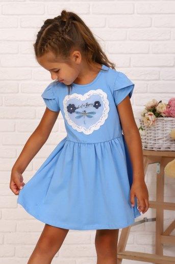 Платье Мгновения детское (N) (Голубой) (Фото 2)