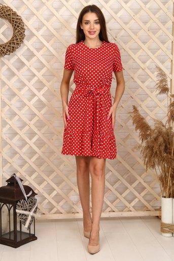 Платье 6997 (N) (Красный) - Злата