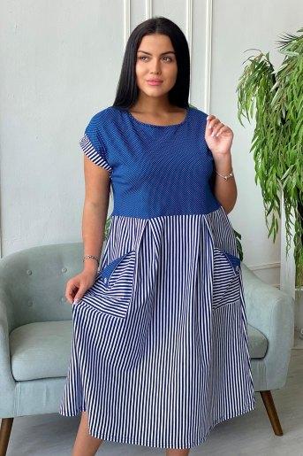 Платье 7272 (N) (Синий) - Злата