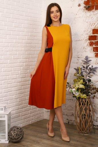 Платье 10400 (N) (Горчичный) - Злата
