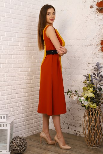 Платье 10400 (N) (Горчичный) (Фото 2)