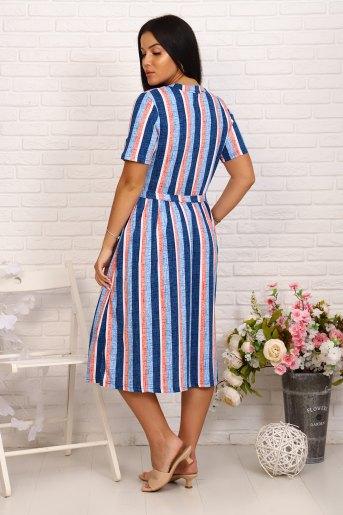 Платье 6993 (N) (Синий) (Фото 2)