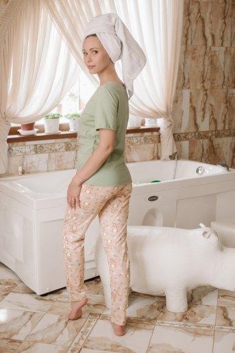 Женская пижама ЖП 067 (T) (Оливковый _ лиса) (Фото 2)
