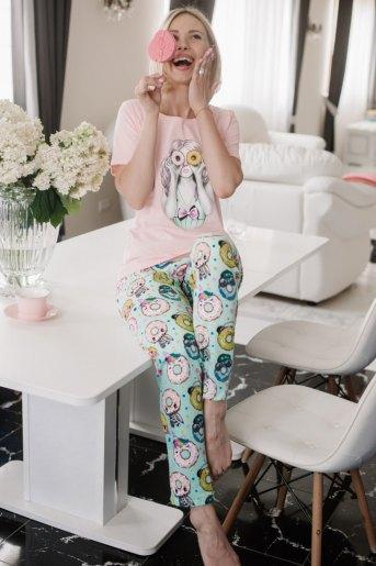 Женская пижама ЖП 067 (T) (Девушка с пончиками) - Злата