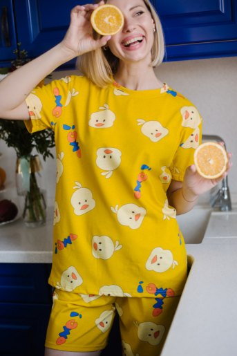 Женская пижама ЖП 069 (T) (Цыпленок) - Злата