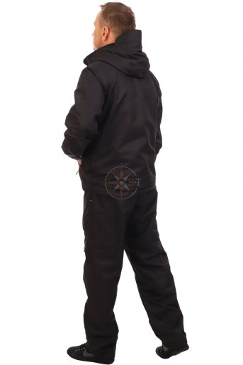 КОС5712-15 Костюм Вальд ДМС на флисе (Таслан черный) (Черный) (Фото 2)