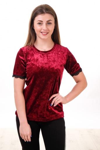 Блуза Бархат с кружевом - Злата