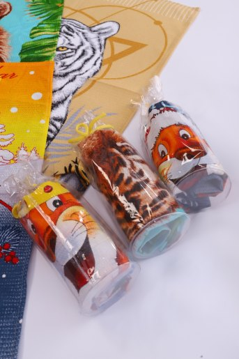 Полотенце купон Новый год, 50х60 (в тубе) (Фото 2)
