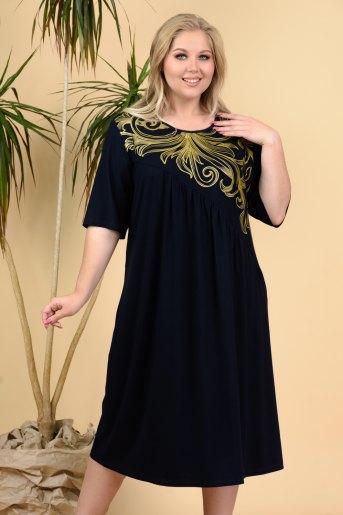 Платье 4566 (N) (Темно-синий) - Злата