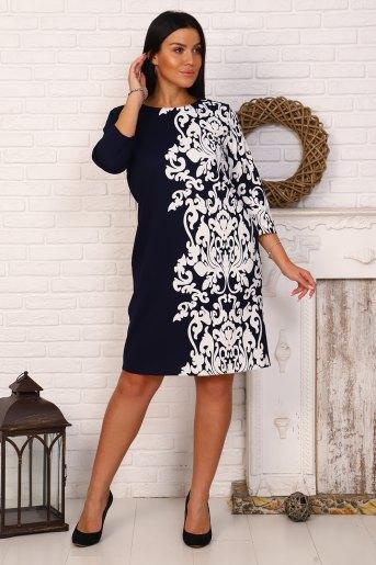 Платье 39513 (N) (Синий) - Злата
