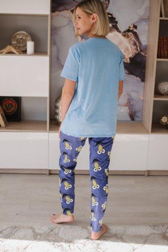 Женская пижама ЖП 024 (T) (Голубой_лицо) (Фото 2)