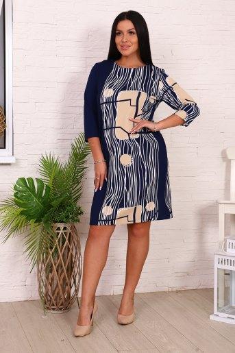 Платье 39514 (N) (Синий) - Злата