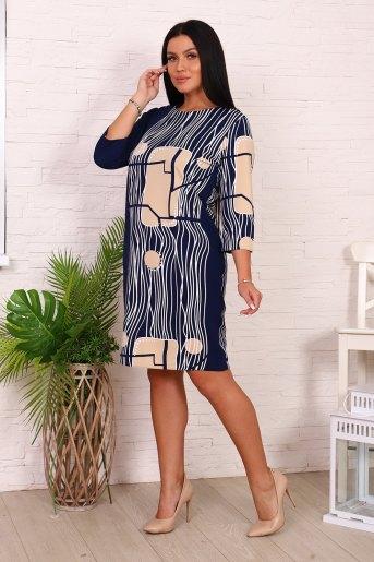 Платье 39514 (N) (Синий) (Фото 2)