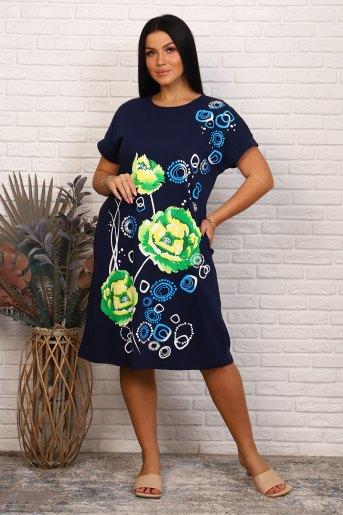 Платье 35542 (N) (Темно-синий) - Злата