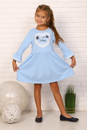 Платье Дюймовочка детское (N) (Голубой) - Злата