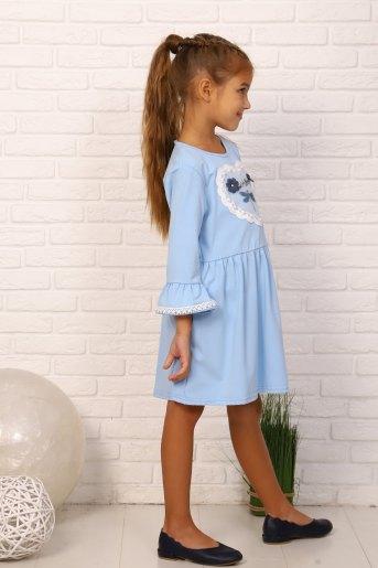 Платье Дюймовочка детское (N) (Голубой) (Фото 2)