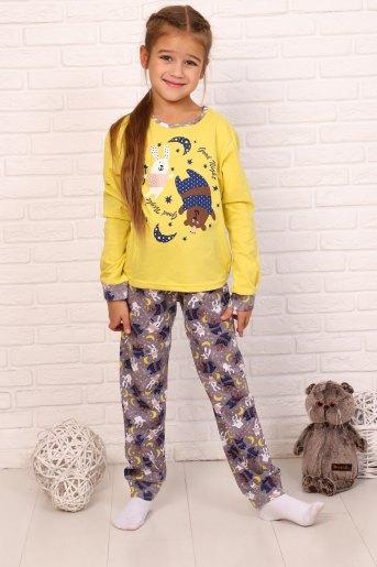 Пижама Сумерки дл. рукав (N) (Желтый) - Злата