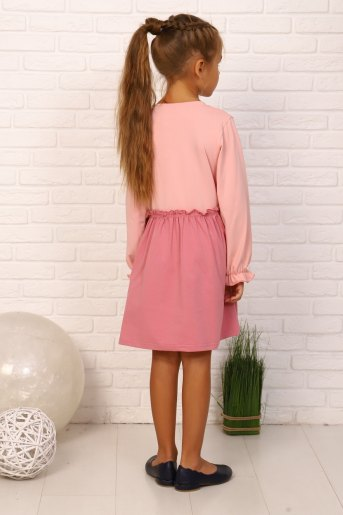 Платье Кисонька дл.рукав (N) (Лиловый) (Фото 2)