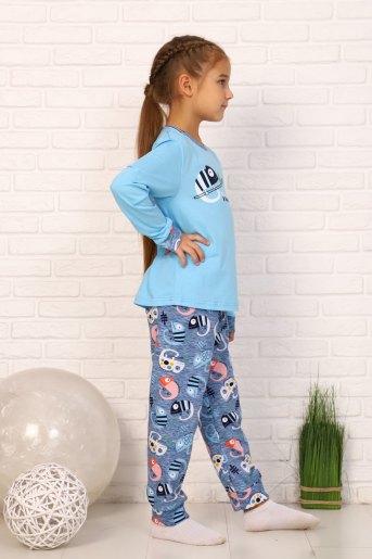 Пижама Хамелеон дл.рукав (N) (Голубой) (Фото 2)