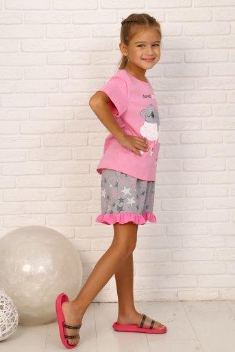 Пижама Мир снов кор. рукав детская (N) (Розовый) (Фото 2)
