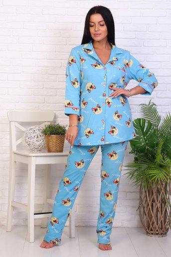 Пижама 46021 (N) (Голубой) - Злата