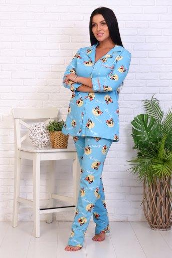 Пижама 46021 (N) (Голубой) (Фото 2)