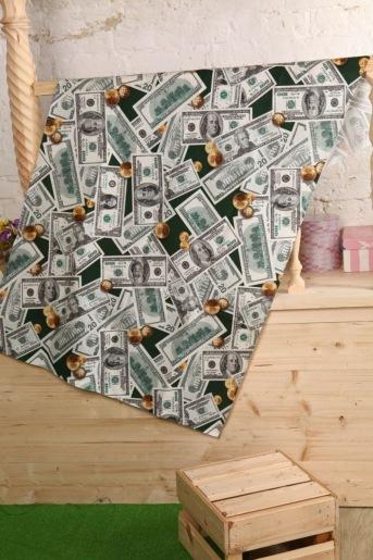 Полотенце вафельное доллары - Злата