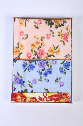 Коробка подарочная 2 полотенца 32х70 - Злата