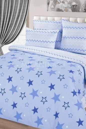 Звездный синий КПБ Поплин (А) - Злата