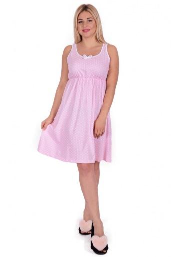 Женская сорочка ЖС 015 (T) (Горох на розовом) (Фото 2)
