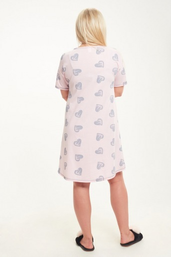 Женская сорочка ЖС 017/1 (T) (Сердечки на розовом) (Фото 2)