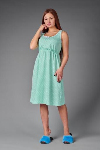 Женская сорочка ЖС 015 (T) (Мятный с горохом) (Фото 2)